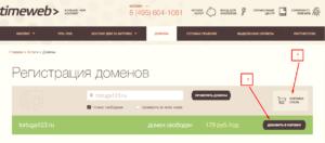 Timeweb доменное имя
