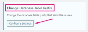 Change Database Table Prefix