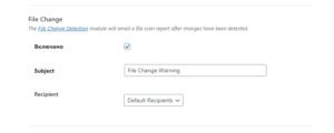 File Change настройки плагина защиты