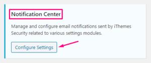 Notification Center настройки плагина защиты сайта