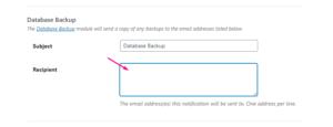 Настройка электронной почты для уведомлений о резервном копировании