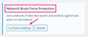Network Brute Force Protection
