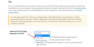 Переход с http на https - вкладка SSL в настройках плагина защиты сайта