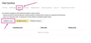 Как задать цели Яндекс Метрики