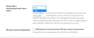 значение Advanced при установке редиректа на https в настройках плагина защиты во вкладке SSL