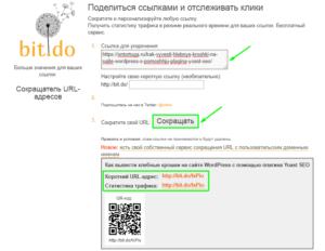 Как пользоваться сервисом сокращения ссылок Bit.do
