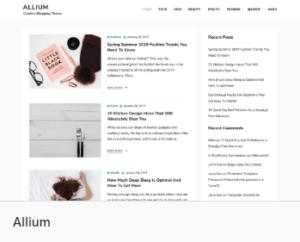 Лучшие темы WordPress для блога - Allium