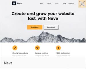 Лучшие темы для сайта WordPress - Neve