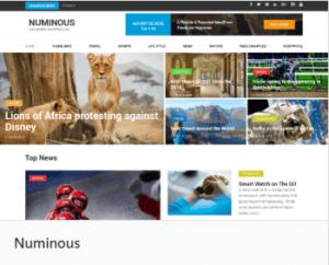 Numinous тема сайта Вордпресс