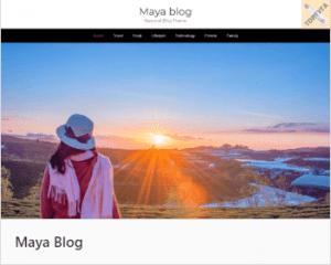 Maya Blog - Вордпресс темы сайта для блога