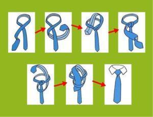 Как правильно завязывать галстук - фото и пошаговая инструкция