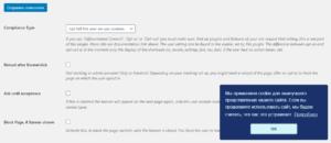 Compliance & Behaviour настройка баннера уведомлений о файлах куки