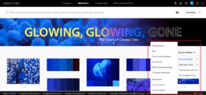 Палитра цветов для сайта Adobe Color - подбор цветовой гаммы из готовых решений
