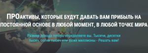 Тимофеев Виталий и Клуб ПРО Активы