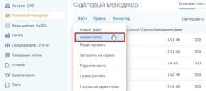 Как создать папку на сервере к корневом каталоге сайта WordPress