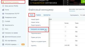 Как загрузить файл на сервер сайта